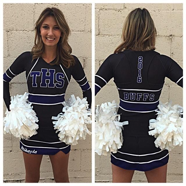 High school cheerleading uniforms