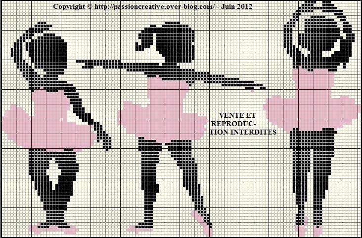 danse - dancing - point de croix - cross stitch - Blog : http://broderiemimie44.canalblog.com/