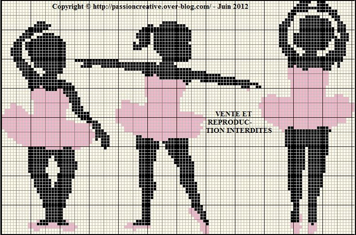 danse - dancing - point de croix - cross stitch - Blog : http://broderiemimie44.canalblog.com/