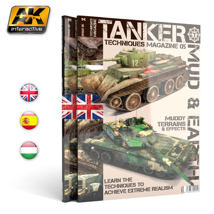 AK4823 - TM is the most specialized magazine in the world, devoted entirely to painting techniques painting and weathering techniques of military vehicles. In this issue we focus on mud. We will show through different tutorials, and sbs articles how to implement these techniques and how to translate to your models.