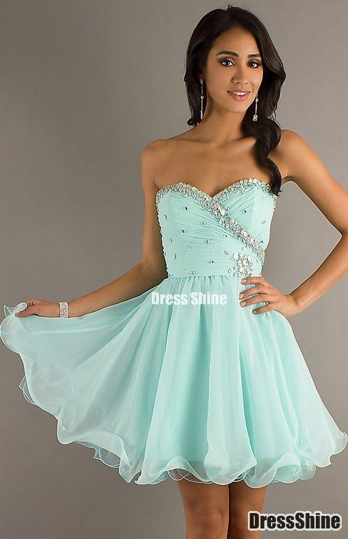 Empire Sweetheart Organza And Beading Homecoming Dress Dresses Pinterest Prom