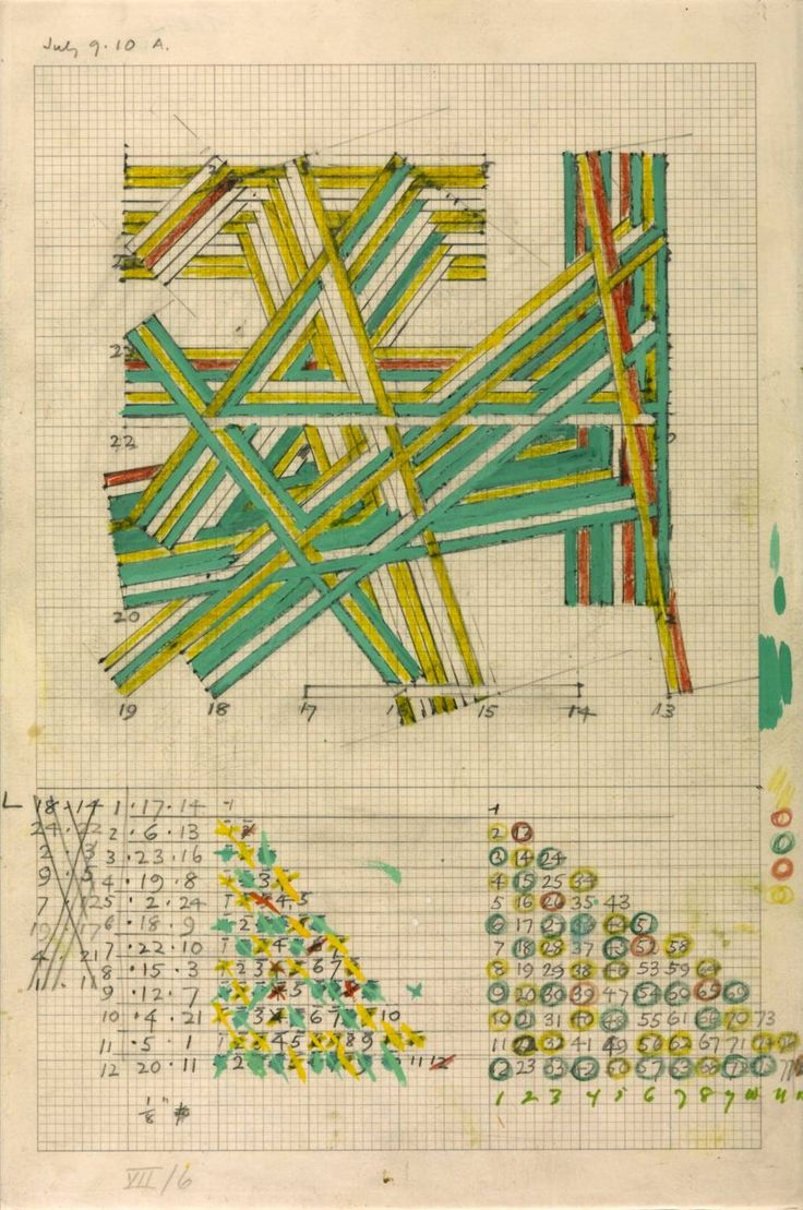 drawing        Kenneth Martin    Chance and Order Group VII, Drawing 6 1971