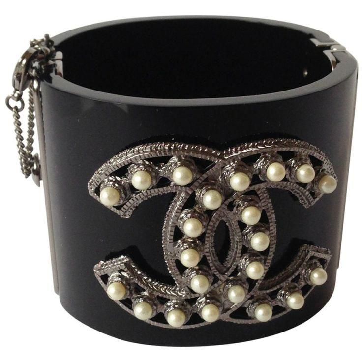 Chanel Cuff Bracelet | From a unique collection of vintage cuff bracelets at http://www.1stdibs.com/jewelry/bracelets/cuff-bracelets/