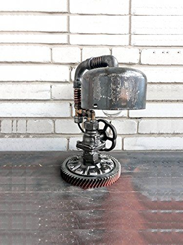 Everything Bathrooms: Retro table lamps Industrial steampunk Lamp Pipe l...