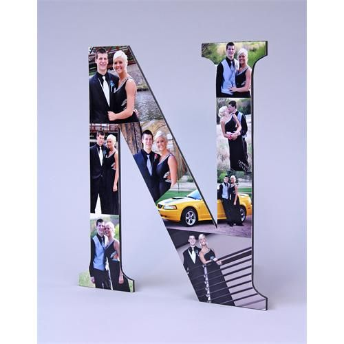 Photo Monogram I want to do this for my kids for a graduation gift!!