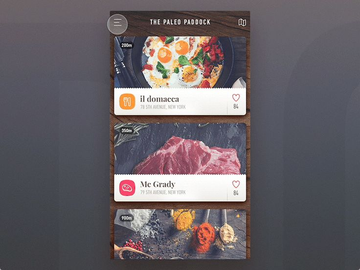 Paleo Paddock - ios application (menu animation) by Stano Bagin