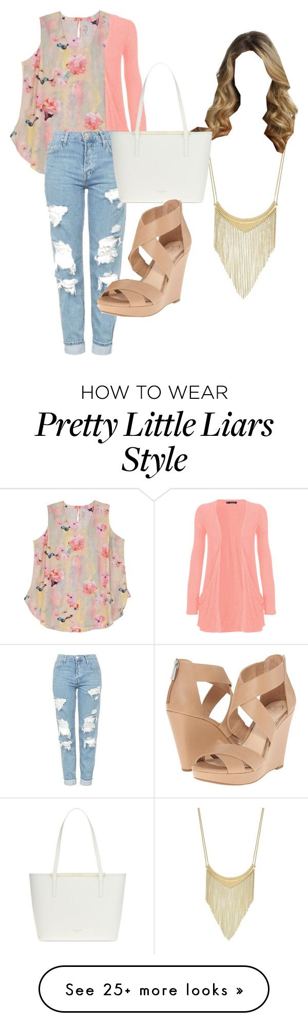 """alison dilaurentis"" by princessdayna on Polyvore featuring Melissa McCarthy Seven7, WearAll, Topshop, BCBGeneration, Ted Baker, Jessica Simpson and plus size clothing"