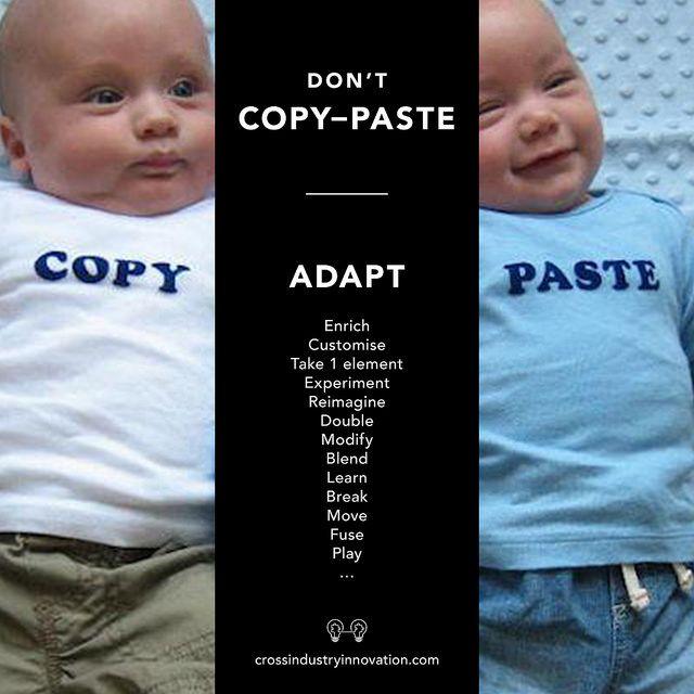 Don't copy-paste, copy-adapt-paste!
