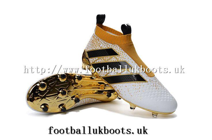Adidas ACE 16+ Purecontrol FG/AG Kids Football Boots - Gold/White/Black Web
