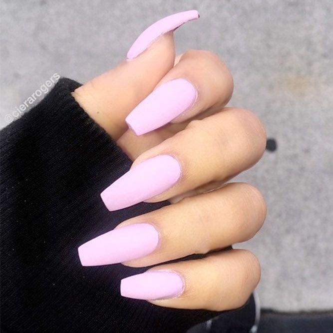 classics designs matte nails cute pink the new21 Cute