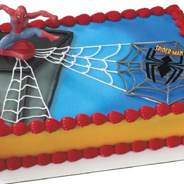 Spiderman Sheet Cake Kids Birthday Spiderman Birthday Cake
