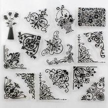 Decora 1 unids vid de la flor diseño claro transparente sello DIY Scrapbooking / de la tarjeta / fuentes de la decoración(China (Mainland))