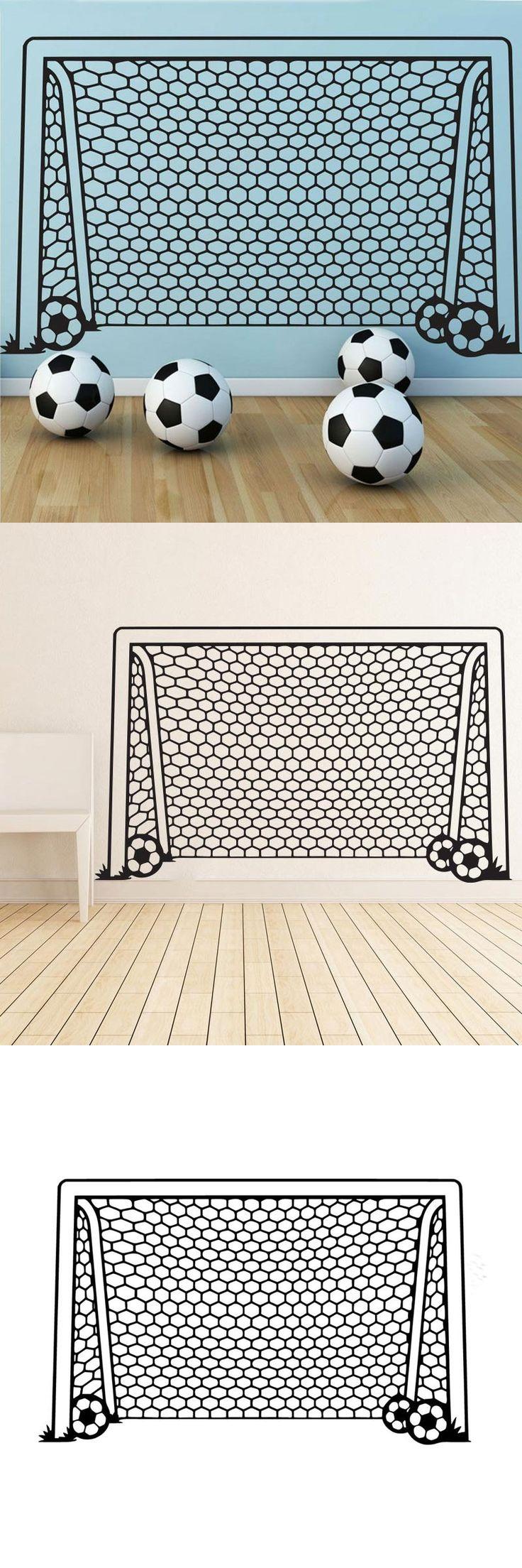 Soccer Net Sport Soccer Wall Stickers Home Decor Kids Bedroom Wall Vinyl Stickers Nursery Wall Decals