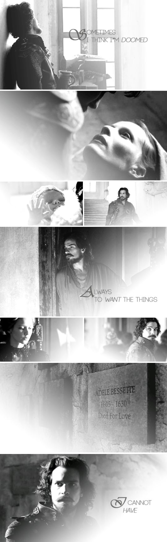 """The Musketeers - Aramis (2x01) """"Sometimes I think I'm doomed always to want the things I cannot have."""""""