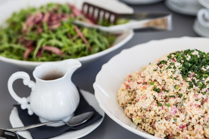 Crispy fresh salad and tasty seasonal risotto.