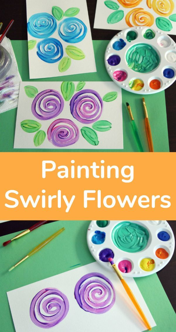 Painting Swirly Flowers With A Simple Technique Kids Watercolor
