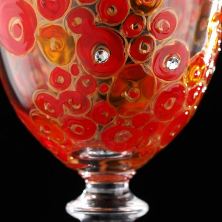 hand-painted wine glasses Lustful Touch