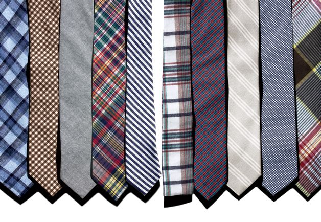 Balance the width of the tie against your lapels and shirt collar, find a knot that fits your face