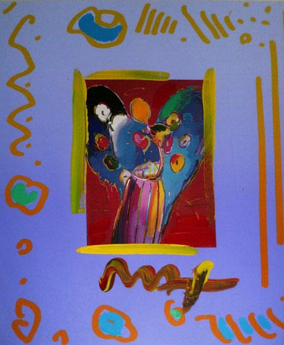 Peter Max - Angel with Heart Collage, Ver.II