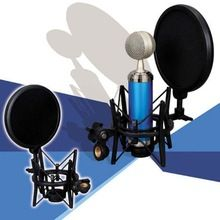 US $7.97 2015 Hot Sale Newest Microphone Mic Professional Shock Mount with Pop Shield Filter Screen. Aliexpress product