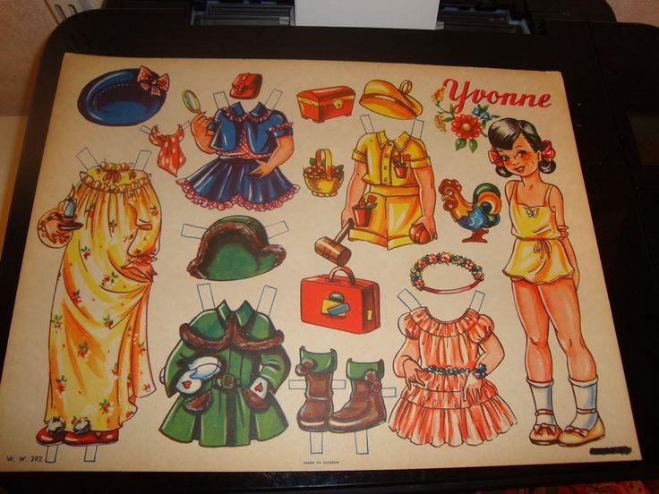 Klippdocka: Yvonne (6) på Tradera.com - Klippdockor | Samlarbilder |