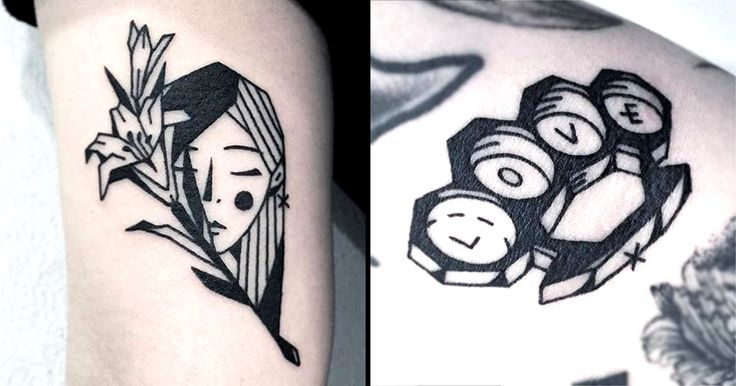 With South Korean tattooer Greem, it's all about edges and simplicity with her neat, wayward blackwork pieces.