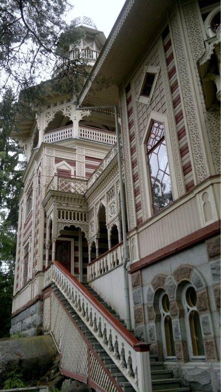 "A wooden Moorish villa ""Rauhalinna"", Savonlinna, Finland - built around the year 1900  (photo AN)"