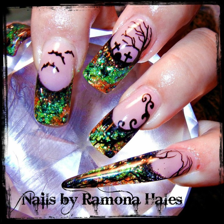 16 best Nails images on Pinterest | Halloween nails, Holiday nails ...