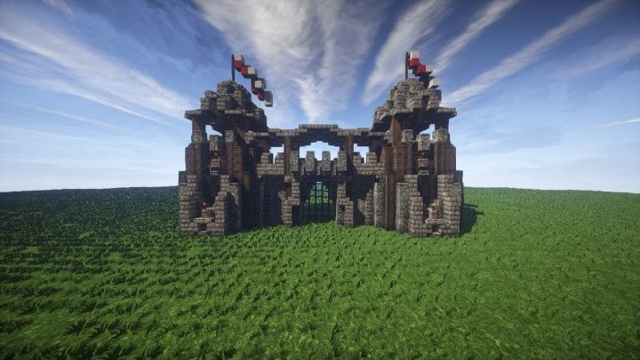 Veriael S Castle Gate Minecraft Projects Minecraft Buildings