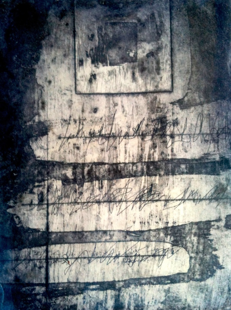 """Print by Mireia Rosich. """"Grating feelings"""", etching, 2012"""