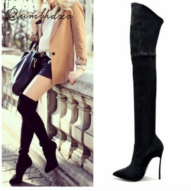 Rumbidzo 2017 Autumn Winter Women Boots Stretch Slim Thigh High Boots Fashion Over the Knee Boots High Heels Shoes Woman Sapatos #shoes, #jewelry, #women, #men, #hats, #watches
