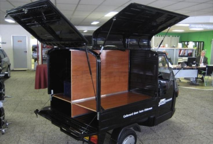 Conversions and modified Ape vans from Tukxi official Piaggio dealers