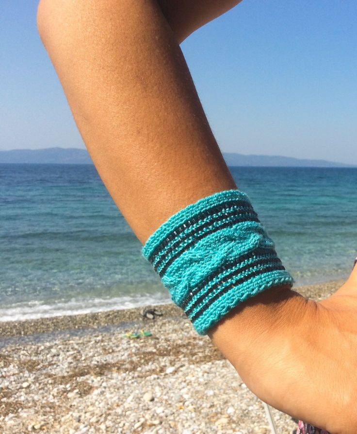 Excited to share the latest addition to my #etsy shop: Wristband band Sweatbands tattoo cover up covers Yarn jewelry Arm cuff jewelry Bands cuffs Stretch soft bracelet Excellent Christmas or Birthday gift for you, your sister or one of your coworkers!