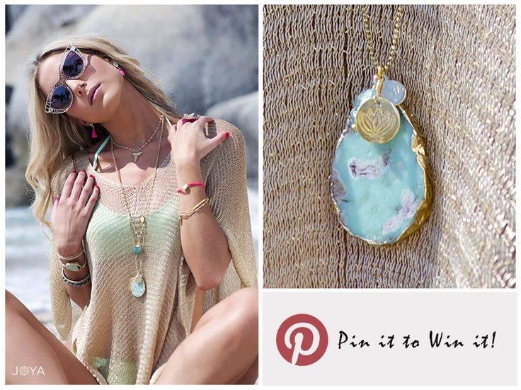 Pin it to win it. One lucky follower will be randomly selected to win our Chrysoprase Cassidy Necklace ❤