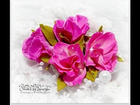 Foamiran Wild Roses Video Tutorial - YouTube
