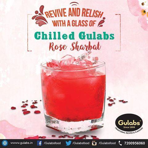 Let this heat not bring down your spirits !!  #gulabs #rosesharbat #drink #summerdrink