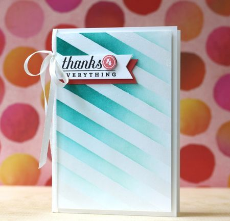 Make It Monday #179: Emboss Resist Using Diecuts - Thanks 4 Everything Card by Laura Bassen for Papertrey Ink (September 2014)