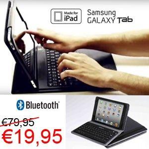 3-in-1 Universele Tabletcase met ingebouwde bluetooth keyboard voor €19,95! www.euro2deal.nl