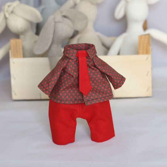 Boy Doll Clothes Set 12 inch Doll Pants Shirt and by RibizliDesign