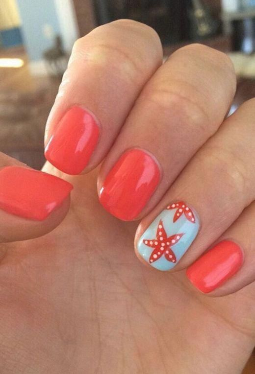 easy diy summer nails Beach Waves #funsummernailcolors