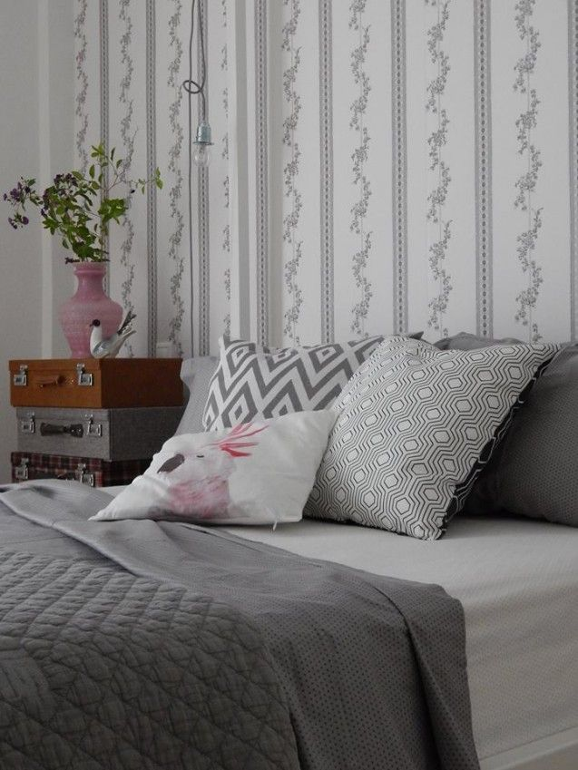 Bedroom - grey bedlinen - Soon to be published. by Eva Topalidou (Rdeco)