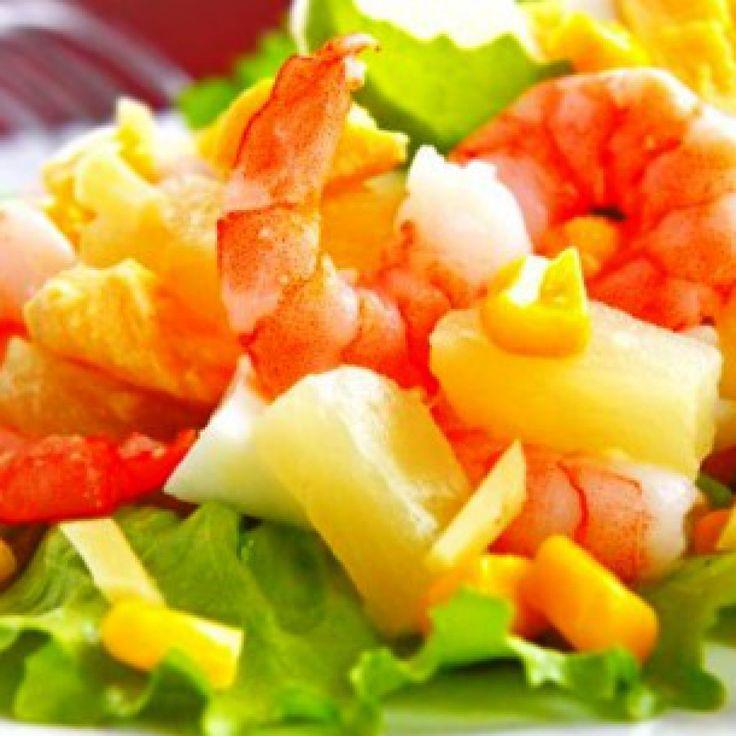 салат-коктейль с креветками -Приготовьте в Дню св. Валентина