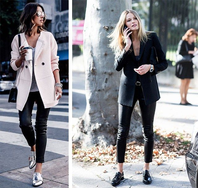 come abbinare i leggings in ecopelle
