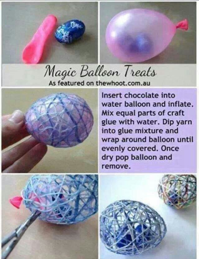 Easter idea. Don't think I'd put the candy in. Just use as decoration. Good craft for kids