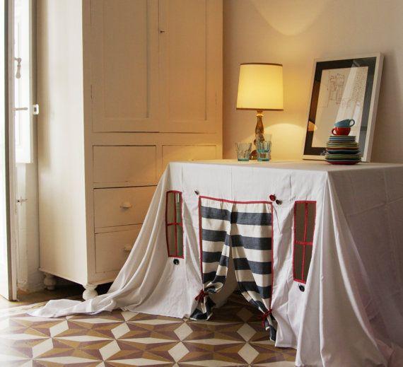 Playhouse  tablecloth Striped Spring van StripedCoast op Etsy, $78.00