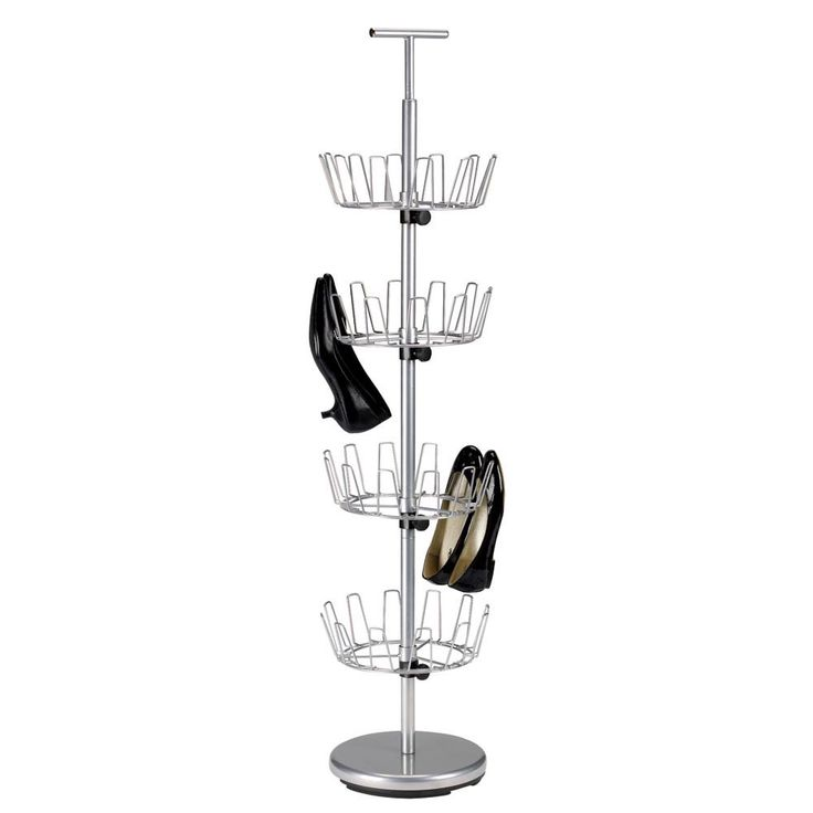 household essentials chrome fourtier revolving shoe tree find this pin and more on house ideas by tmakinde storage