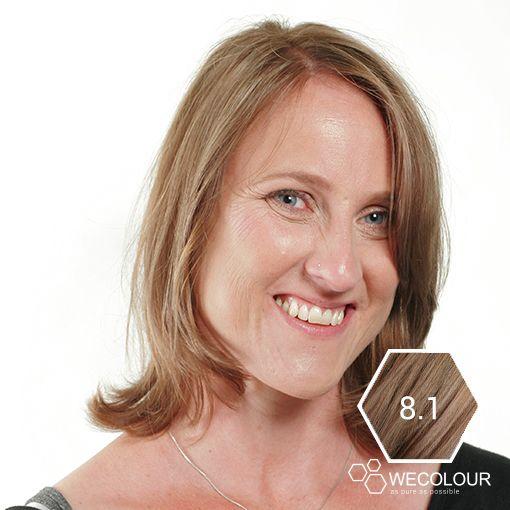 8.1 Asblond is een natuurlijke blonde haarkleur met een as-tint. 100% grijsdekking and as pure as possible.  #zonderammonia #asblond #wecolour