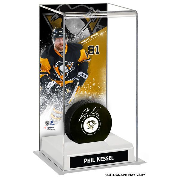 Phil Kessel Pittsburgh Penguins Fanatics Authentic Autographed Puck with Deluxe Tall Hockey Puck Case - $144.99