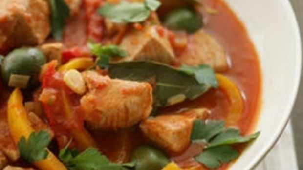 This fresh tuna stew teams fresh fish with red capsicum, chilli and paprika. The Marine Conservation Society suggests albacore tuna is a more sustainable choice than southern bluefin.