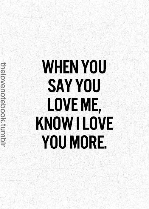 I Love U More Than You Love Me